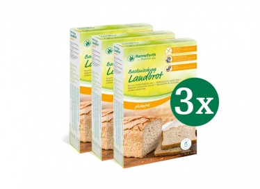 Backmischung Landbrot, Set: 3 x 400g